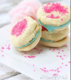 Cotton Candy Sandwich Crèmes #desserts #dessertrecipes #yummy #delicious #food #sweet