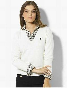 Cheaper Ralph Lauren Women Sweater 0122 White Fast delivery
