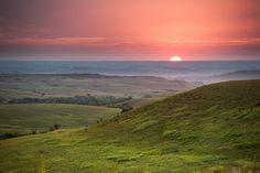 Kansas Flint Hills Landscape.