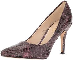 Nine West Women's Flax Snake Dress Pump, Dark Red/Multi, 7 M US -- Find out more about the great product at the image link.
