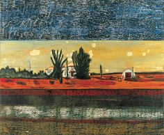 Peter Doig - before the 3 band strip, reminds me of Rothko