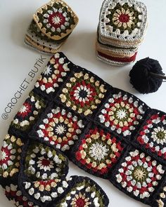 Image gallery – Page 762867624353499118 – Artofit Crochet Squares, Crochet Granny, Crochet Motif, Easy Crochet, Crochet Flowers, Crochet Baby, Crochet Patterns, Granny Squares, Cardigan Au Crochet