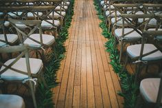 Love the garland runners for the aisle -- Studio Castillero, Twig & Twine | Snippet & Ink