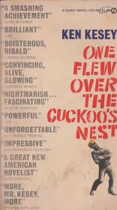 One Flew Over the Cuckoo's Nest - paperback cover w/quotes