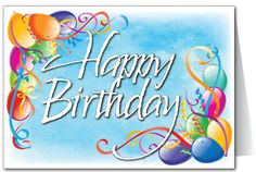 Happy Birthday Wishes png | Happy Birthday Balloons Card