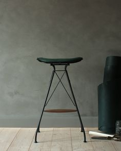 Leather Bar Stool - Mad About The House: designed by Overgaard and Dyrman and available in 2 heights and variety of colors. Wire Bar Stools, Leather Bar Stools, Counter Stools, Step Stools, Wood Bar Top, Wood Bar Table, High Top Table Kitchen, High Top Tables, Cool Chairs