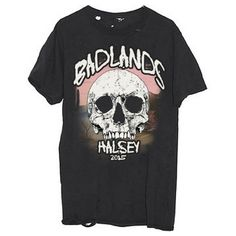 Badlands Tour Tee (700875 BYR) ❤ liked on Polyvore featuring tops, t-shirts, shirts, cotton shirts, distressed shirt, destroyed tee, destroyed tee-shirt and tee-shirt