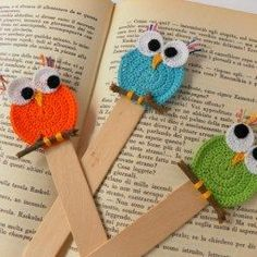 Strickmodelle: Strickbuchhalter-Modelle – My Strictmuster Crochet Owls, Crochet Gifts, Crochet Flowers, Free Crochet, Knit Crochet, Crochet Bookmark Pattern, Crochet Bookmarks, Baby Knitting Patterns, Crochet Patterns