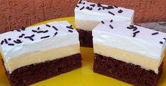 V dnešnom článku Vás čaká luxusný krémový dezert, ktorý si všetci zamilujú.Vrátane Vás.Jedinečnými chuťami sa v tomto recepte vôbec nešetrilo... Sweet Cakes, Sweet Desserts, Cheesecake, Pudding, Sweets, Food, Recipes, Basket, Gummi Candy