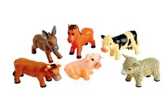 Soft Touch Baby Farm Animals - Set of 6 Baby Farm Animals, Discount School Supply, Early Literacy, Latex Free, Donkey, Cows, Amelia, Gifts For Kids, Sheep