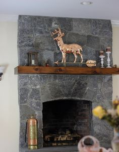 Deer Copper Weathervane with Stand