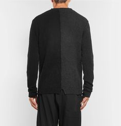 ... href='http://www.mrporter.com/mens/Designers/Isabel_Benenato'>Isabel  Benenato</a>'s collections. In an inky charcoal and black colourway, this  sweater ...