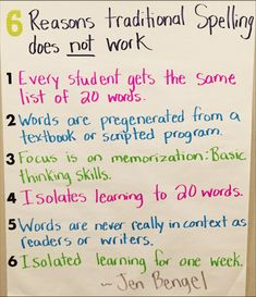 6 Reasons Traditional Spelling Does Not Work