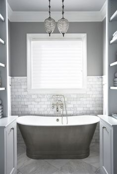 Most Design Ideas Gray And White Marble Bathroom Design Pictures, And Inspiration – Modern House Neutral Bathrooms Designs, Grey Bathrooms, Beautiful Bathrooms, Master Bathroom, Bathroom Designs, Timeless Bathroom, Bathroom Gray, Marble Bathrooms, Bathroom Interior