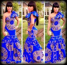 Robe de sirène imprimé africain/Ankara pour les femmes pour