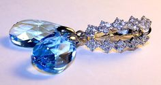 Swarovski AQUAMARINE Crystal Earrings by NataliaKh on Etsy, $20.77
