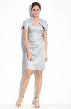 Adrianna Papell Metallic Crepe Sheath Dress & Bolero available at #Nordstrom $198