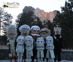 Washington Nationals visit #MountRushmore with the #RushmoreMascots on Presidents' Day 2013 - #nats #visitrapidctiy