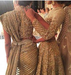 Stunning sari and lehenga