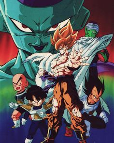 Collecting, posting, and preserving only the best possible quality scans of original Japanese promotional artwork for Dragon Ball, Dragon Ball Z, and Dragon Ball GT from 1986 - 1997 Dragon Ball Z, Goku Y Freezer, Akira, Fairytail, Foto Do Goku, Manga Dragon, Goku And Vegeta, Fan Art, Naruto