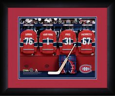Personalized NHL Locker Room Sign - Montreal Canadiens