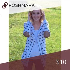 Striped cardigan Black and white striped cardigan Sweaters Cardigans