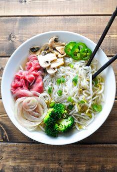 Low Carb Pho - Vietnamese Noodle Soup [Recipe]   KETOGASM.com #keto #ketogenic #lowcarb #lchf #atkins #pressurecooker #recipes #pho #noodlesoup #soup #vietnamese keto recipes
