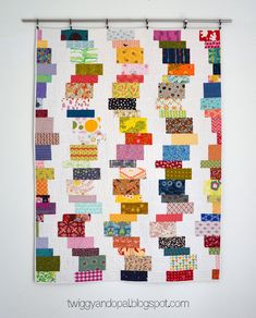 Scrappy Too :: Stacked Wiggles (Twiggy & Opal) Scrappy Quilt Patterns, Scrappy Quilts, Baby Quilts, Quilt Blocks, Denim Quilts, Strip Quilts, Block Patterns, Magic Circle, Leftover Fabric