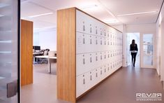 Find more information on Lockers. Click the link for more. Staff Lockers, Office Lockers, Office Storage, Locker Storage, Locker Designs, Locker Ideas, Mail Room, Gym Interior, Office Fit Out