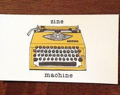 Zine Machine Magnet. zine typewriter magnet, fridge magnet, zinester