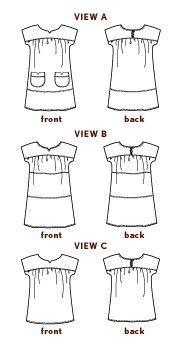 digital ice cream dress sewing pattern