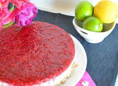 Zitronen-Limetten-Cheesecake mit Himbeeren (2)