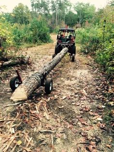 "ATV log skid arch holder customer review: ""This thing works great. There are no additional tools needed, only directions on how to pick up logs. Took me two log pick ups to figure it out, now it works efficiently. I have now moved about 8 eighteen foot lo"