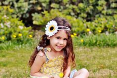 Crochet girl headband Child headband Whimsical by HandmadeTrend