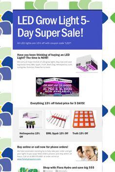 LED Grow Light 5-Day Super Sale!