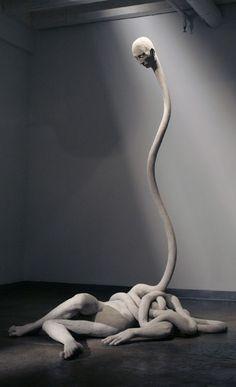 A collection of sculpture by artist Emil Alzamora Creepy Art, Weird Art, Bizarre Art, Illusion Kunst, Arte Obscura, 3d Fantasy, Wow Art, Horror Art, Art Plastique