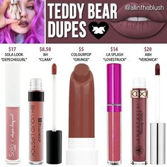 Dupes for Teddy Bear by Limecrime                                                                                                                                                                                 More