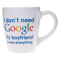 My Boyfriend Knows Everything Mug. Boyfriend gifts Christmas. Stocking Stuffers For Boyfriend.