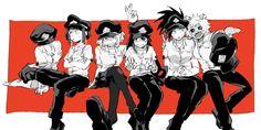 Boku no Hero Academia || Characters: Tooru Hagakure, Kyouka Jirou, Uraraka Ochako, Tsuyu Asui, Momo Yayorozu, Ashido Mina.