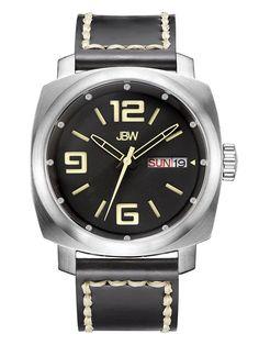b01f1bac9c6 Fleet Stainless Steel   Leather Watch