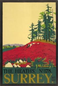 The Heaths; no.178, Surrey (1916), by Edward McKnight Kauffer