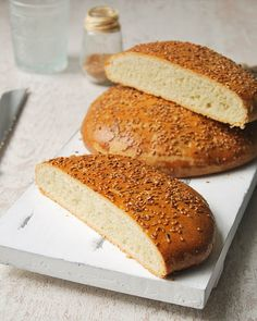Pan tunecino - L'Exquisit - I Cook Different Arabic Bread, Arabic Food, Croissants, Tunisian Food, Recipe Mix, Read Recipe, Food L, Middle Eastern Recipes, Turkish Recipes