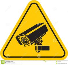 Video surveillance sign. CCTV Camera. Black vector isolated.
