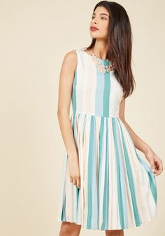 Colorful on Cue A-Line Dress