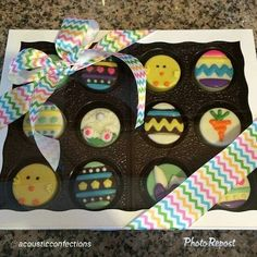 Easter Chocolate Covered OREO Cookies in BRP Box Shop's Cookie Box and Trays