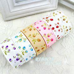 ( 6 cores misturadas! ) 1 '' ( 25 mm ) Rose flor fita de gorgorão impressa fitas da série floral bonito em Laços de Home & Garden no AliExpress.com   Alibaba Group
