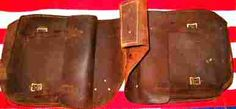 Vintage set of old cowboy saddlebags