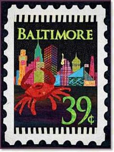 Zebra Patterns Mini City Stamp Panel Baltimore