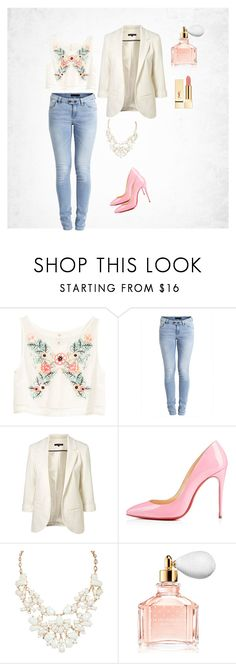 """""""Spring"""" by amra-f ❤ liked on Polyvore featuring H&M, Object Collectors Item, Guerlain, Pink and Flowers"""