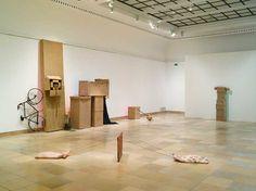 rauschenberg Haus der Kunst, Installation shot with Ca' Pesaro (Venetians), 1973 and Untitled (Early Egyptians), 1973, © Robert Rauschenberg / VG Bild-Kunst, Bonn 2008, Photograph by Jens Weber, München.